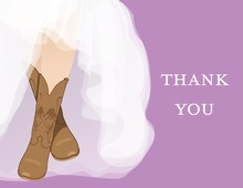My Special Western Boots Thank You Cards