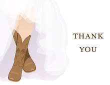 Classic Western Boots Thank You Cards
