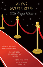 Lovely Classic Red Carpet Invitations