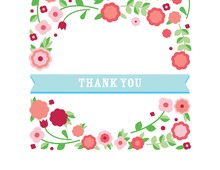 Flowery Images Everywhere Thank You Cards