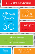 Brightly Colored Background Invitations