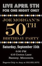 Lively Birthday Dots Light Invitations