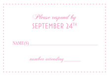 Eat Drink Be Married Pink RSVP Cards