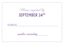 Eat Drink Be Married Purple RSVP Cards