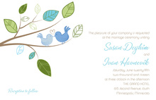 Cuddling Wedding Birds Invitation