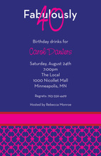 Customize Fabulous Modern Blue Invitations