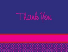 Fabulous Modern Blue Thank You Cards