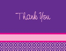 Fabulours Modern Purple Thank You Cards