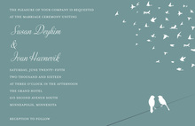 Slate Wedding Background Two Birds Invite