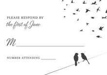 Wedding Birds In Love RSVP Cards