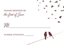 Creative Wedding Birds RSVP Cards
