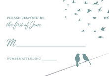 Slate Blue Wedding Background RSVP Cards