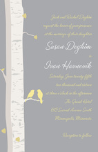 Romantic Birch Tree Wedding Invitations
