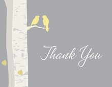 Romantic Wedding Birds Thank You Cards