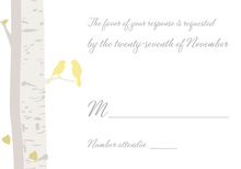 Romantic Wedding Birds RSVP Cards