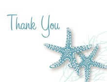 Slate Blue Starfish Thank You Cards