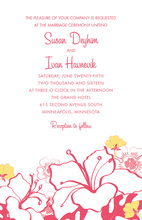 Pink Hibiscus Flowers Invitation