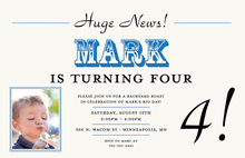 Mark Your News Birthday Party Invitations