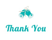 Simple Bold Teal Thank You Cards
