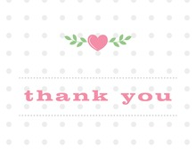 Branching Hearts in Pink Thank You Cards