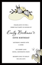 Elegant Crme Beauty Hat Modern Party Invitations
