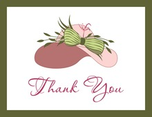 Elegant Pink Hat Thank You Cards