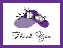Elegant Purple Hat Thank You Cards