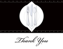 Dinner Party Black Tablecloth Thank You Cards