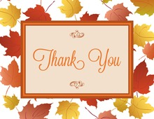 Autumn Maple Leaves Thank You Cards