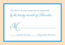 Blue Orange Crme Border RSVP Cards