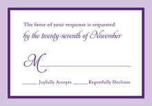 Purple Lavender Border RSVP Cards