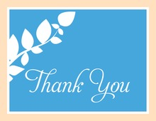 Modern Branch Blue Thank You Cards