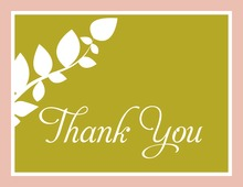 Modern Branch Olive Thank You Cards
