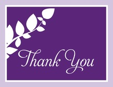 Modern Branch Violet Thank You Cards