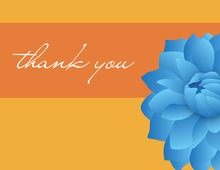 Blue Dahlia Thank You Cards