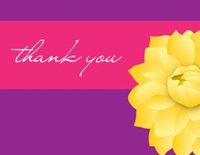 Yellow Dahlia Thank You Cards