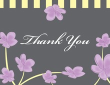 Lavender Plumeria Whimsy Thank You Cards