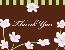 Pink Plumeria Whimsy Thank You Cards