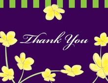 Yellow Plumeria Whimsy Thank You Cards