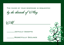 Dotty Green Tree RSVP Cards