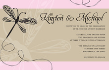 Playful Dragonfly Superb Pink Invitations