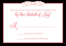 Pink Double Bow RSVP Cards