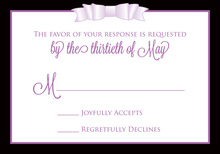 Purple Double Bow RSVP Cards