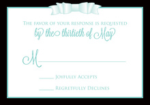 Teal Double Bow RSVP Cards