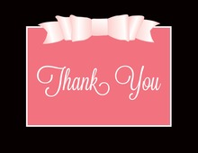 Pink Double Bow Thank You Cards