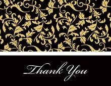 Gold Leaf Flourish Thank You Cards