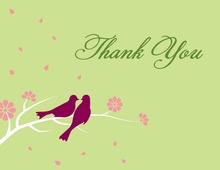 Loving Wedding Birds Sage Thank You Cards
