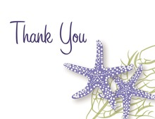 Purple Starfish Wedding Thank You Cards