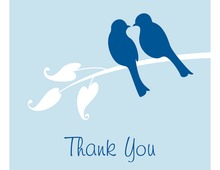 Blue Lovely Birds Thank You Cards