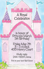 Bright Lovely Pink Castle Invitation